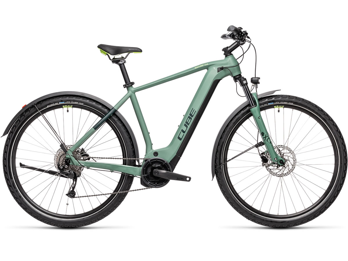 Cube Nature Hybrid ONE 500 Allroad green´n´sharpgreen 2021 T.62 cm / XL