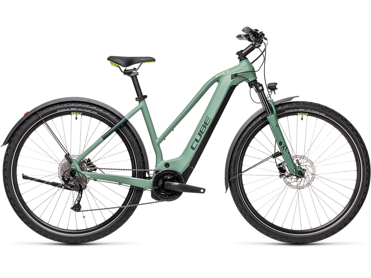 Cube Nature Hybrid ONE 625 Allroad green´n´sharpgreen 2021 T.Trapeze 54 cm / M