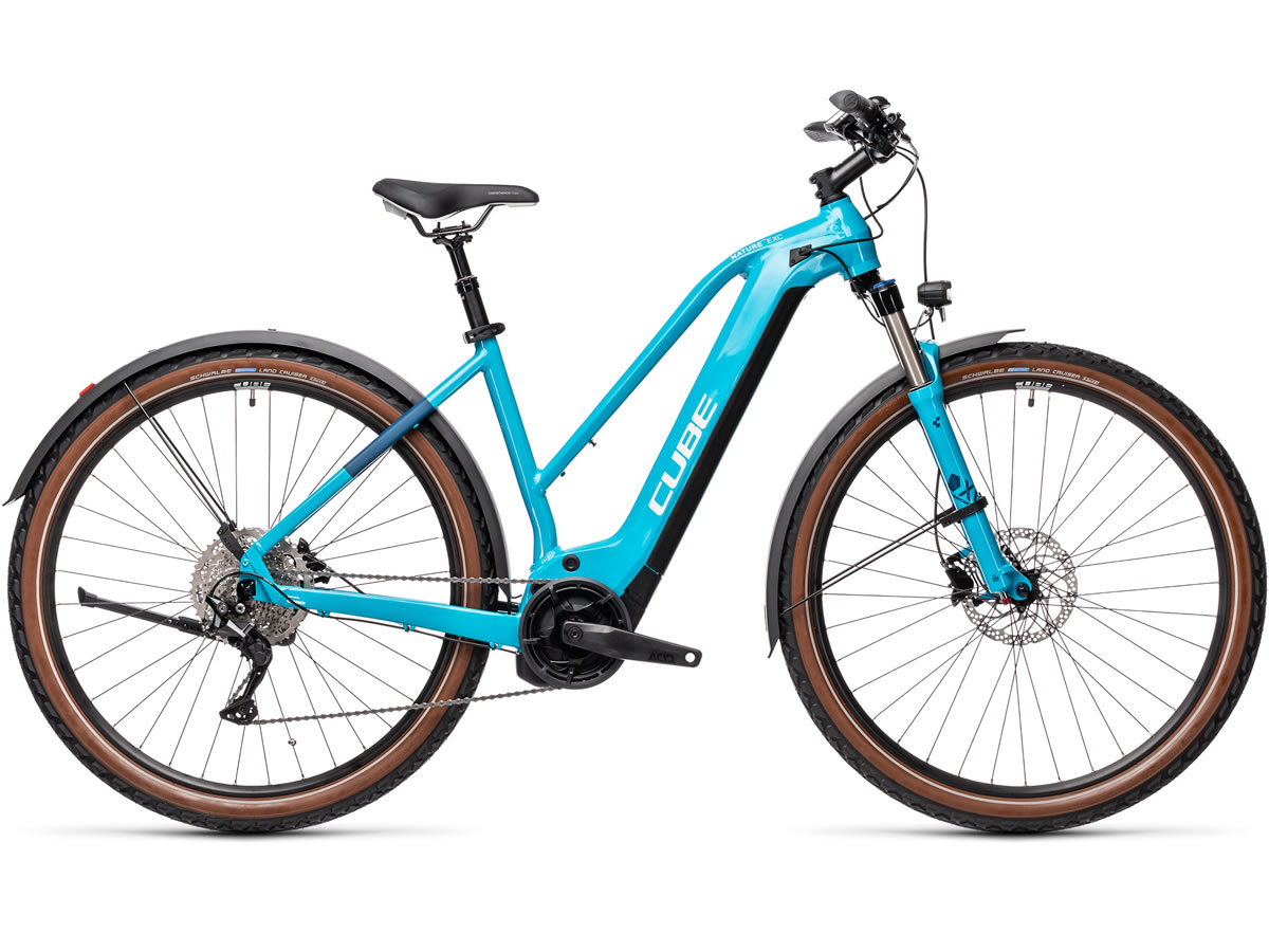 Cube Nature Hybrid EXC 625 Allroad petrol´n´darkblue 2021 T.Trapeze 54 cm / M