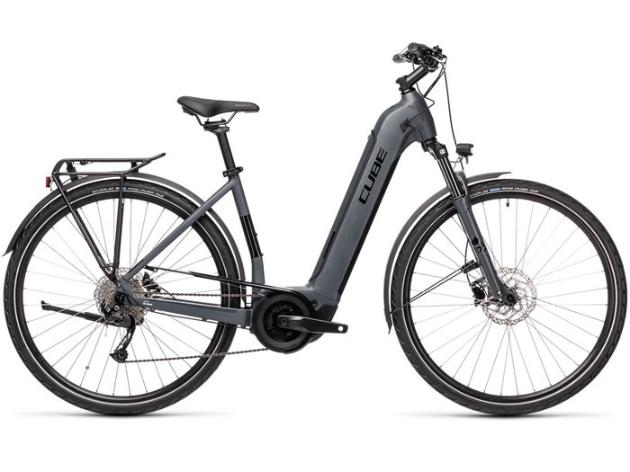 Cube Touring Hybrid ONE 400 grey´n´black 2021 T.Easy Entry 50 cm / S
