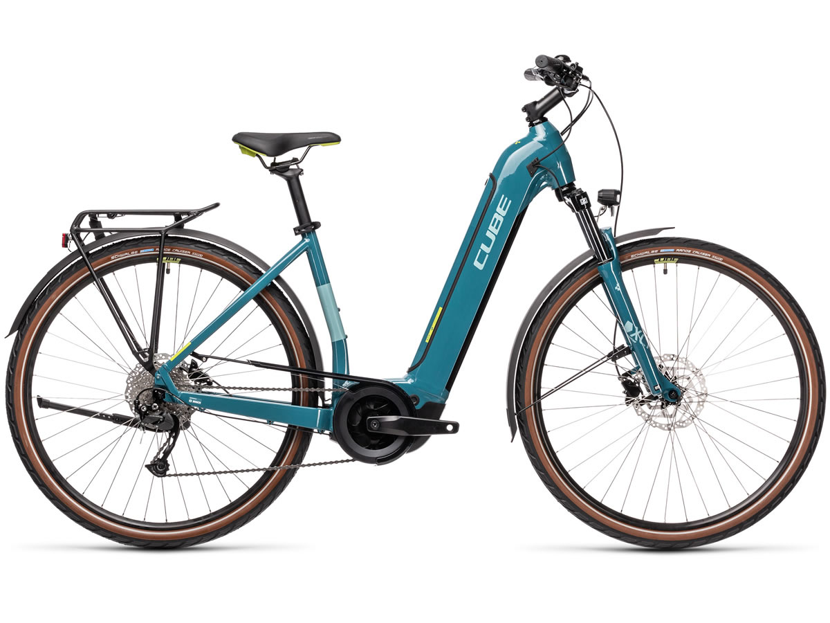 Cube Touring Hybrid ONE 400 blue´n´green 2021 T.Easy Entry 58 cm / L