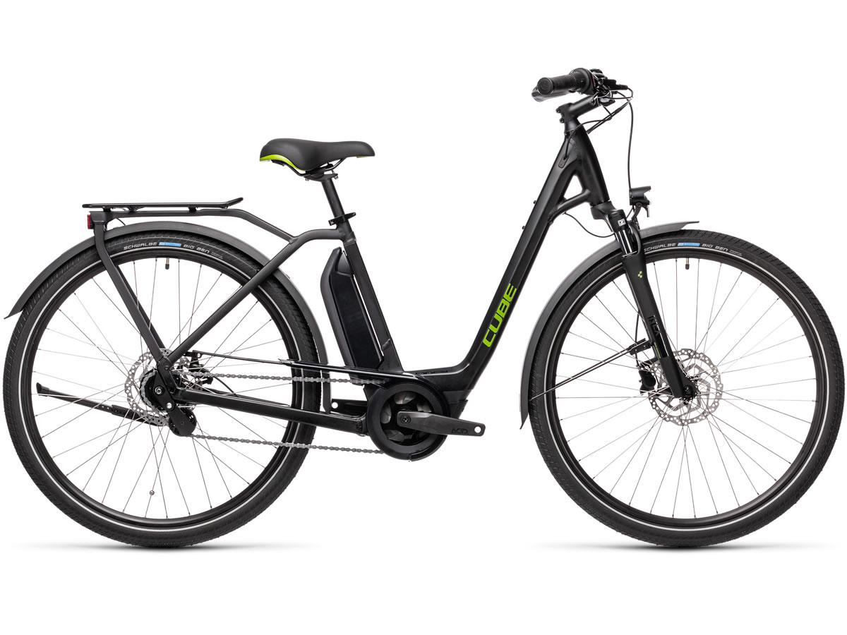 Cube Town Hybrid ONE 400 black´n´green 2021 T.Easy Entry 62 cm / XL