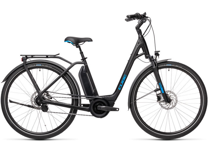 Cube Town Hybrid Pro 500 black´n´blue 2021 T.Easy Entry 62 cm / XL