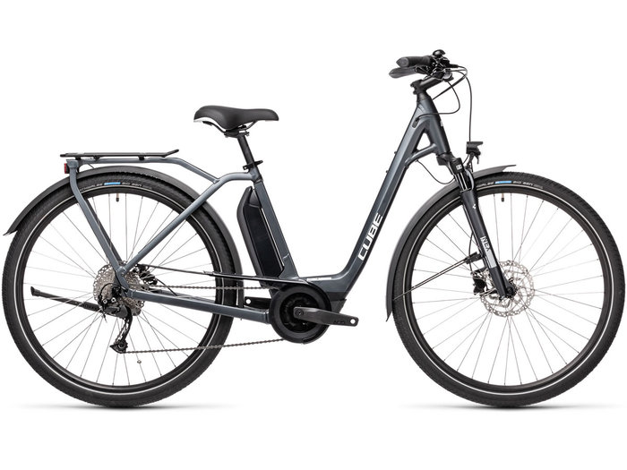 Cube Town Sport Hybrid ONE 500 iridium´n´grey 2021 T.Easy Entry 62 cm / XL