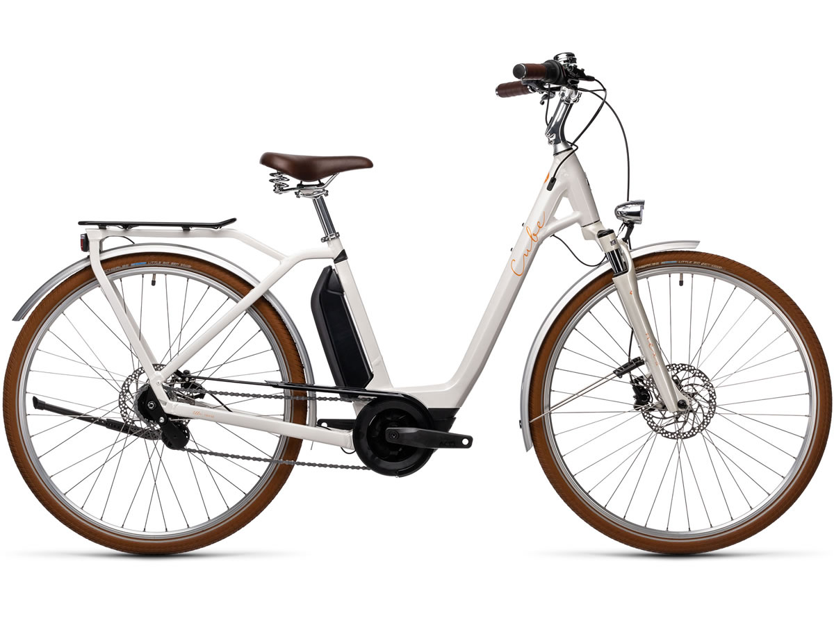 Cube Ella Cruise Hybrid 400 cream´n´orange 2021 T.Easy Entry 58 cm / L