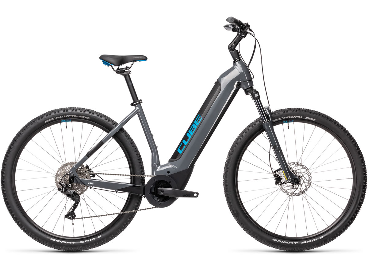 Cube Nuride Hybrid Pro 625 grey´n´blue 2021 T.Easy Entry 58 cm / L