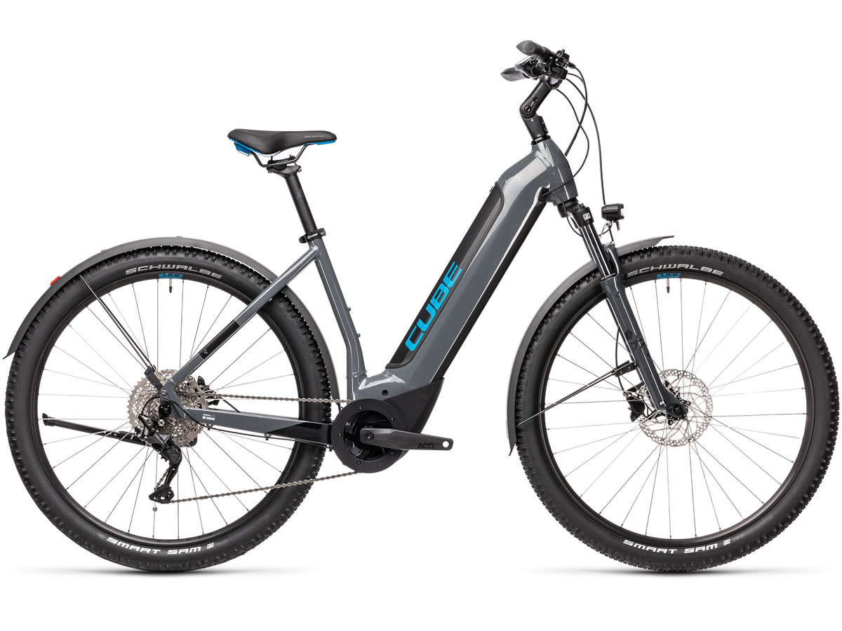 Cube Nuride Hybrid Pro 500 Allroad grey´n´blue 2021 T.Easy Entry 58 cm / L
