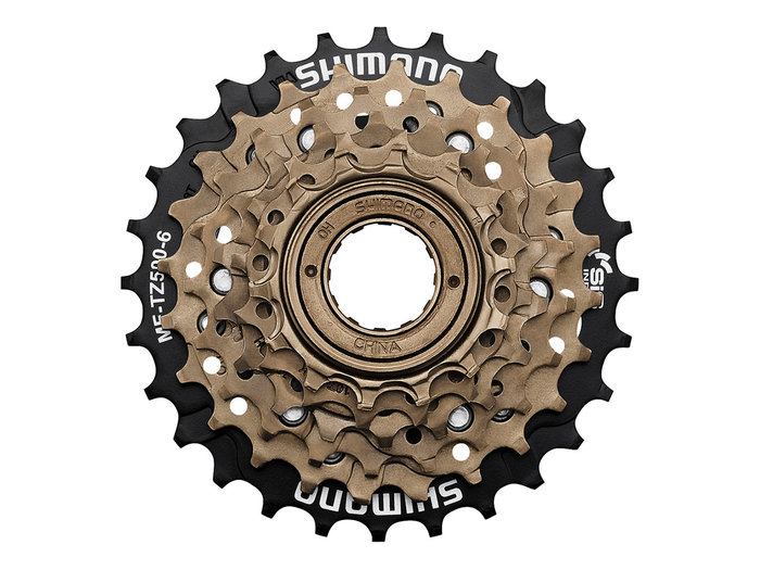 Cassette SHIMANO MF-TZ500 6 vitesses 14-28 or